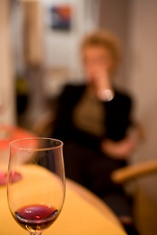 Woman suffering from alcohol withdrawal